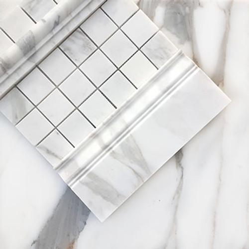 Calacatta Gold Italian Marble 2x2 Mosaic Tile Honed