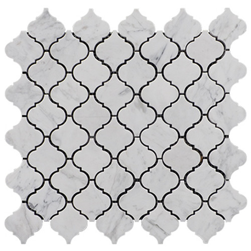 Lantern Mini Arabesque Baroque  Mosaic Tile Polished