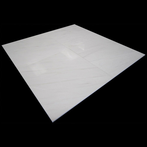 18x18 Bianco Dolomiti Marble Tile Honed