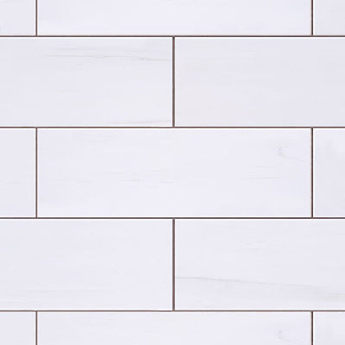 3x9 Bianco Dolomiti Marble Tile Polished