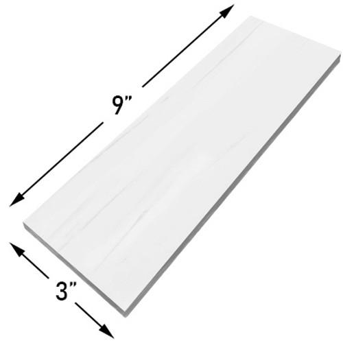 3 x 9 Bianco Dolomiti Marble Subway Tile Honed