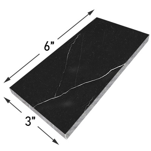 Nero Marquina Black Marble 3x6 Marble Tile Polished