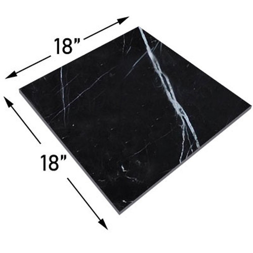 Nero Marquina Black Marble 18x18 Marble Tile Polished