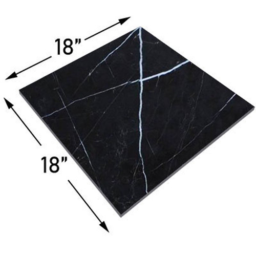 Nero Marquina Black Marble 18x18 Marble Tile Honed