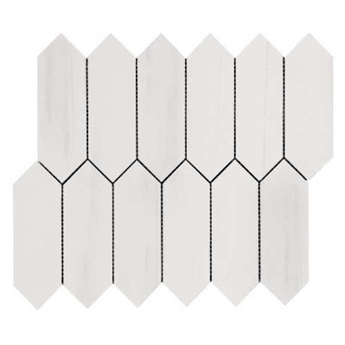 Bianco Dolomite Picket Mosaic Tile Polished