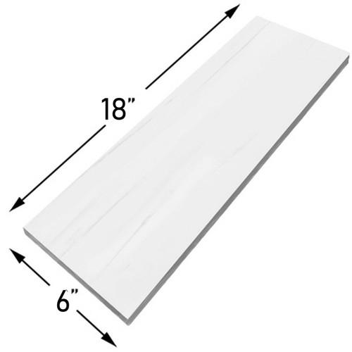 Bianco Dolomiti Marble 6x18 Tile Polished