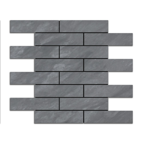 Bardiglio Gray Marble 4x12 Marble Tile Honed