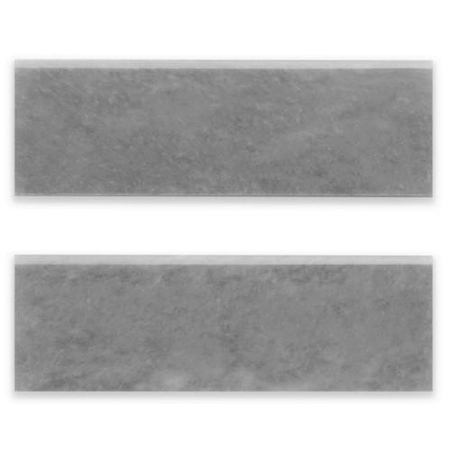 Bardiglio Gray Marble 4x12 Bullnose Trim Tile Honed