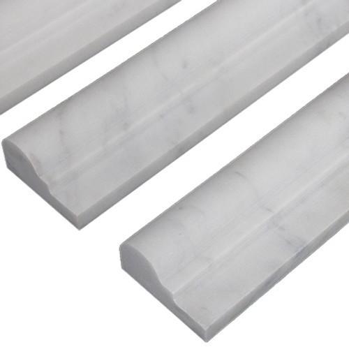 Italian White Carrera Marble Bianco Carrara Ogee 1 Chairrail Molding Polished