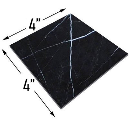 4x4 Nero Marquina Black Marble Marble Tile Honed