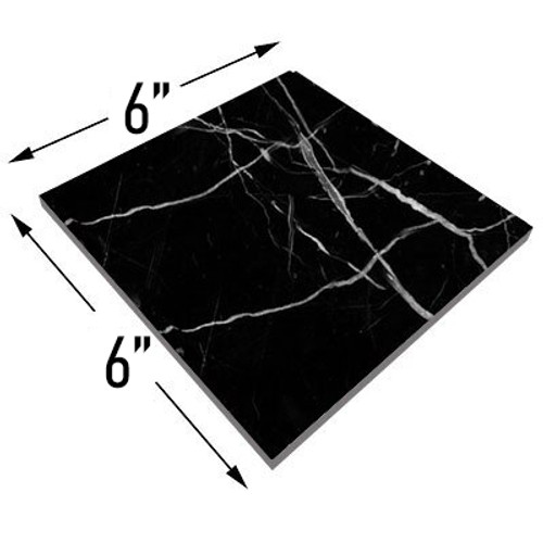 6x6 Nero Marquina Black Marble Marble Tile Honed