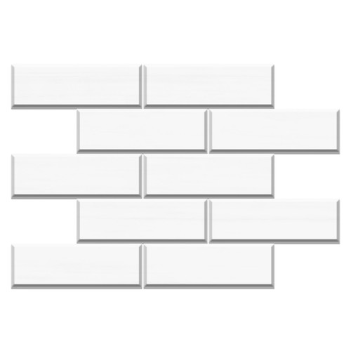 4x12 Bianco Dolomiti Marble Wide Bevel Subway Tile Honed