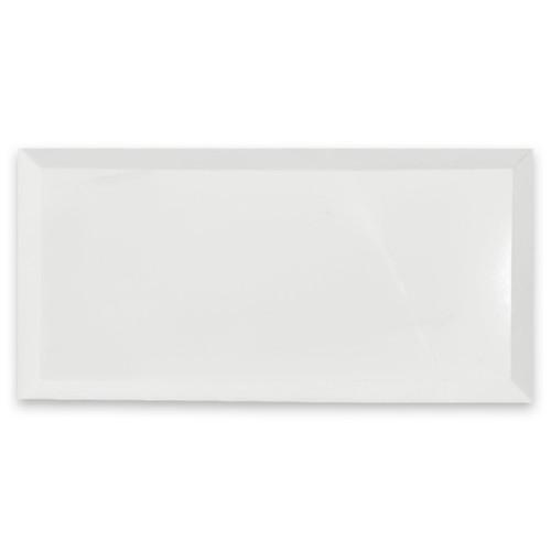 Bianco Dolomiti 3x6 Marble Wide Bevel Subway Tile Polished