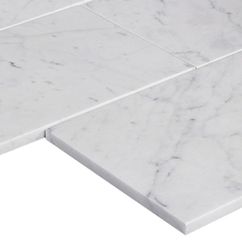 Italian White Carrera Marble Bianco Carrara 6x12 Marble Subway Tile Polished