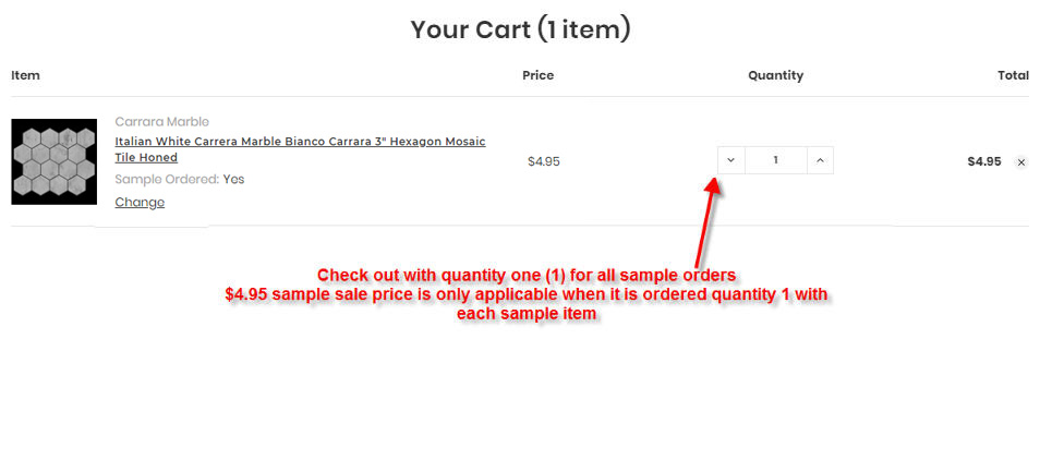 how to order product sample step 3