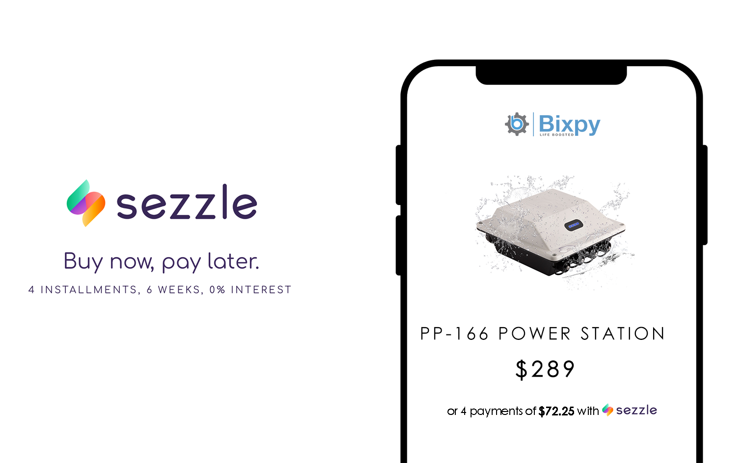 Introducing Sezzle: Buy now, pay later.