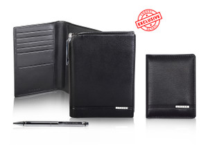 .Passport holder and wallet set by Cross