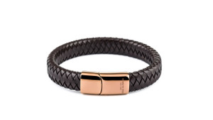 .Gent's Brown Leather Bracelet by Kenneth Cole