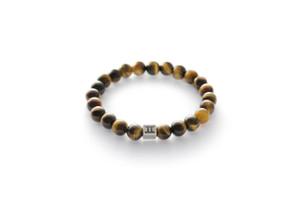 .Gemini Men's Bracelet - Tigers Eye