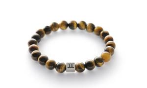 Gemini Men's Bracelet - Tigers Eye