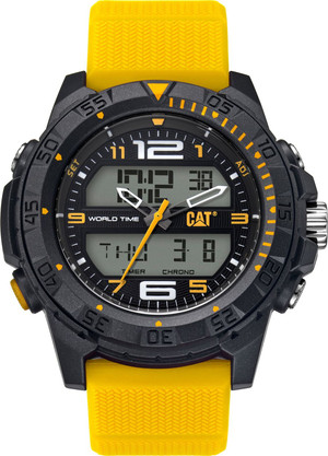 Ready for an adventure? The Basecamp analogue/digital watch from Cat watches is packed with functionality and will quickly become a fundamental timepiece in your daily life with a chronograph, dual time, two alarms, day/date display, backlight & 100m water resistant.