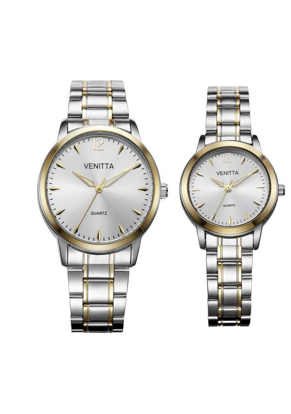 Venitta Twin Watch Set - Silver