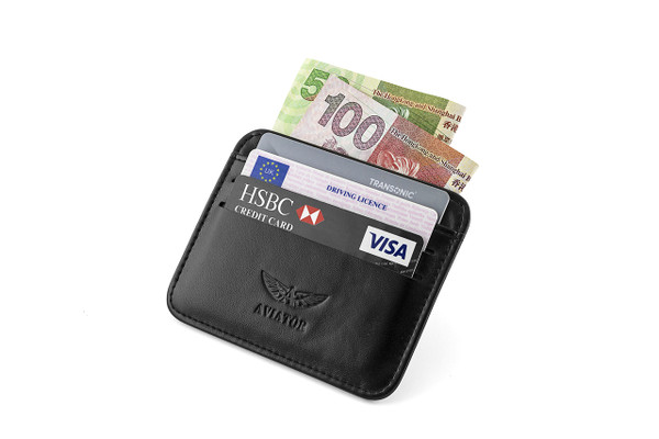 Credit Card Leather Wallet by Aviator