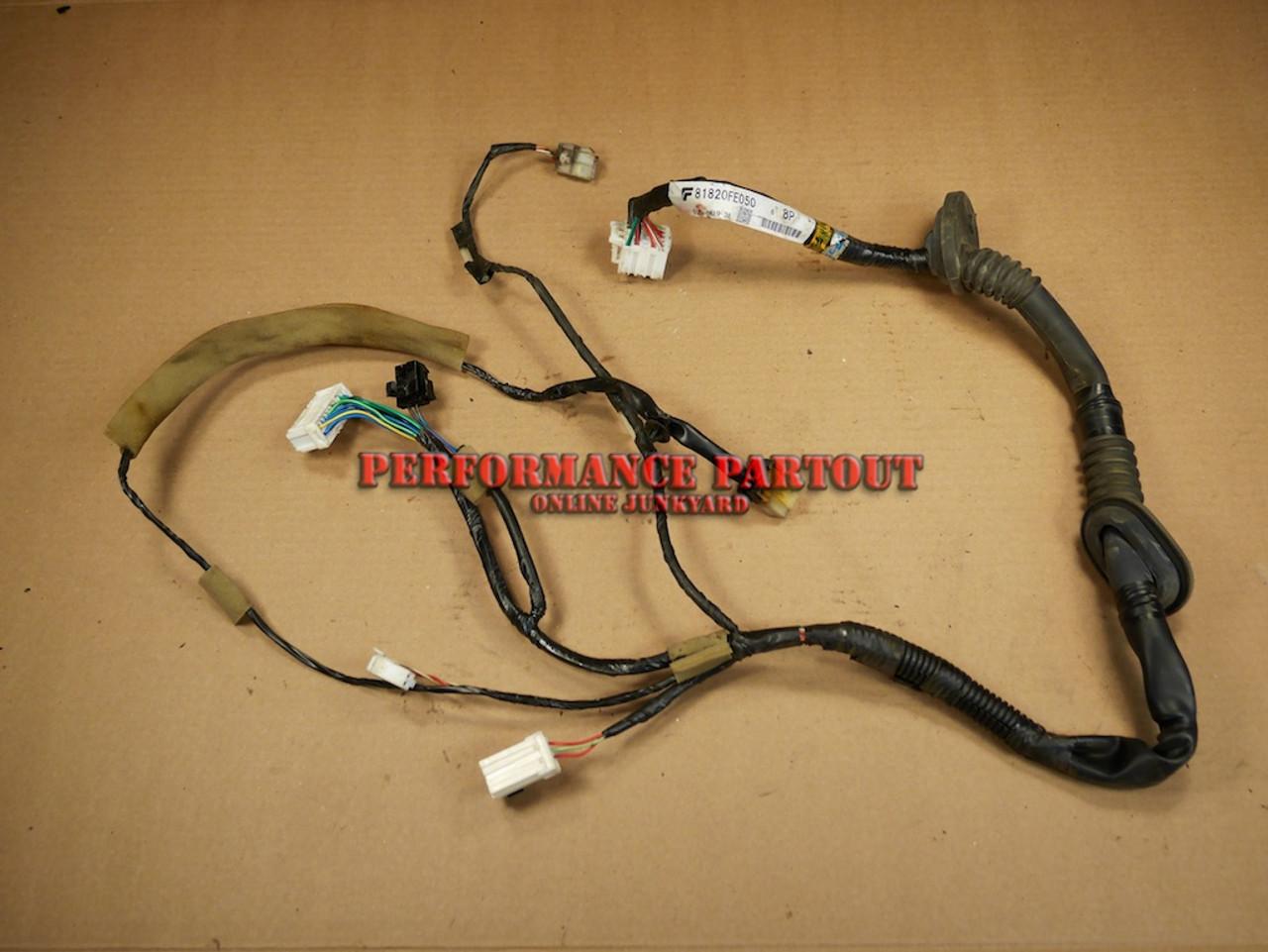 Door wiring harness Driver Front WRX 02-04 - Performance Partout on door strut, door decals, door switch, door speaker, door wiring boots, door wheels, door shocks,