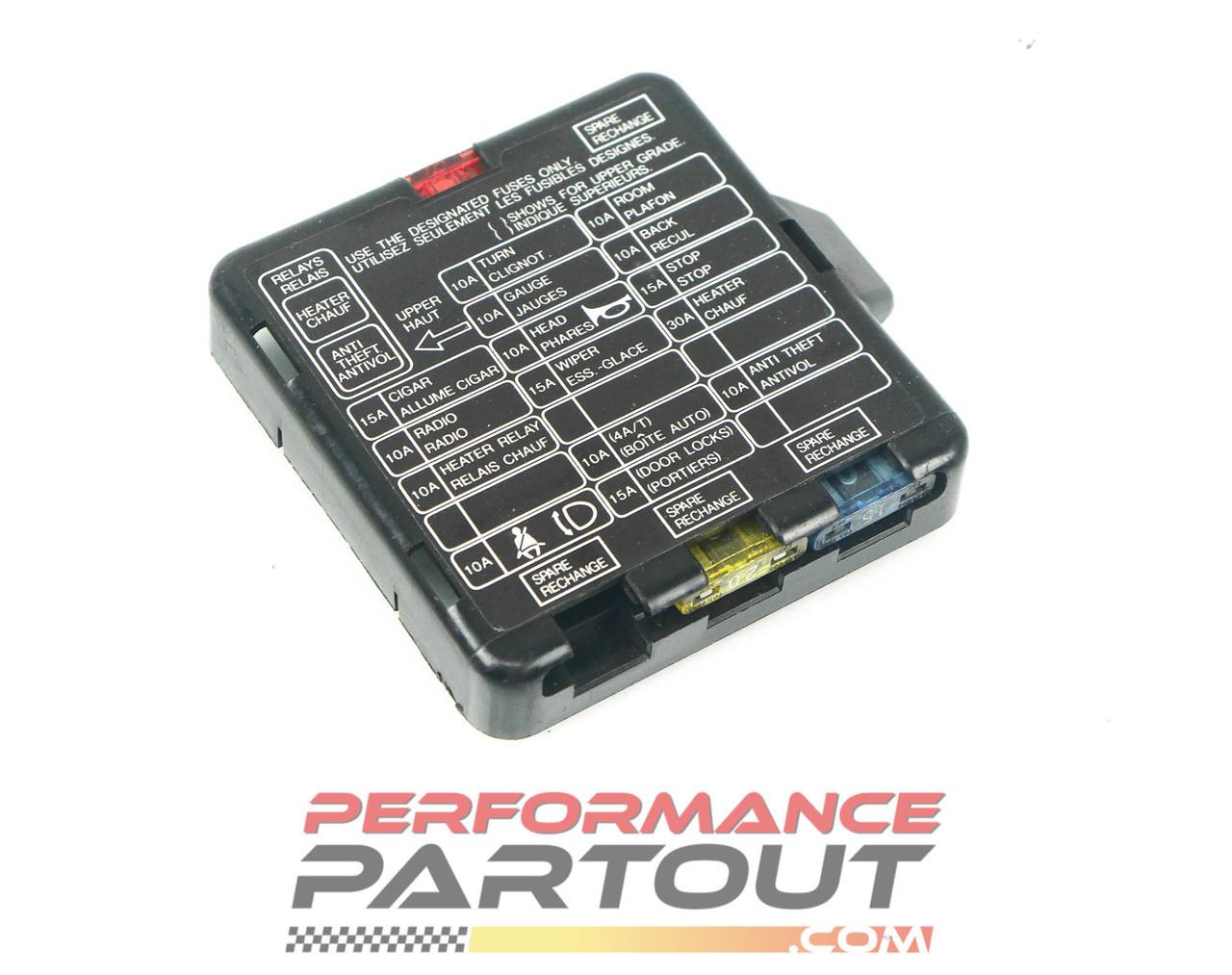 fuse box cover interior 90 94 dsm performance partout  fuse box cover interior 90 94 dsm