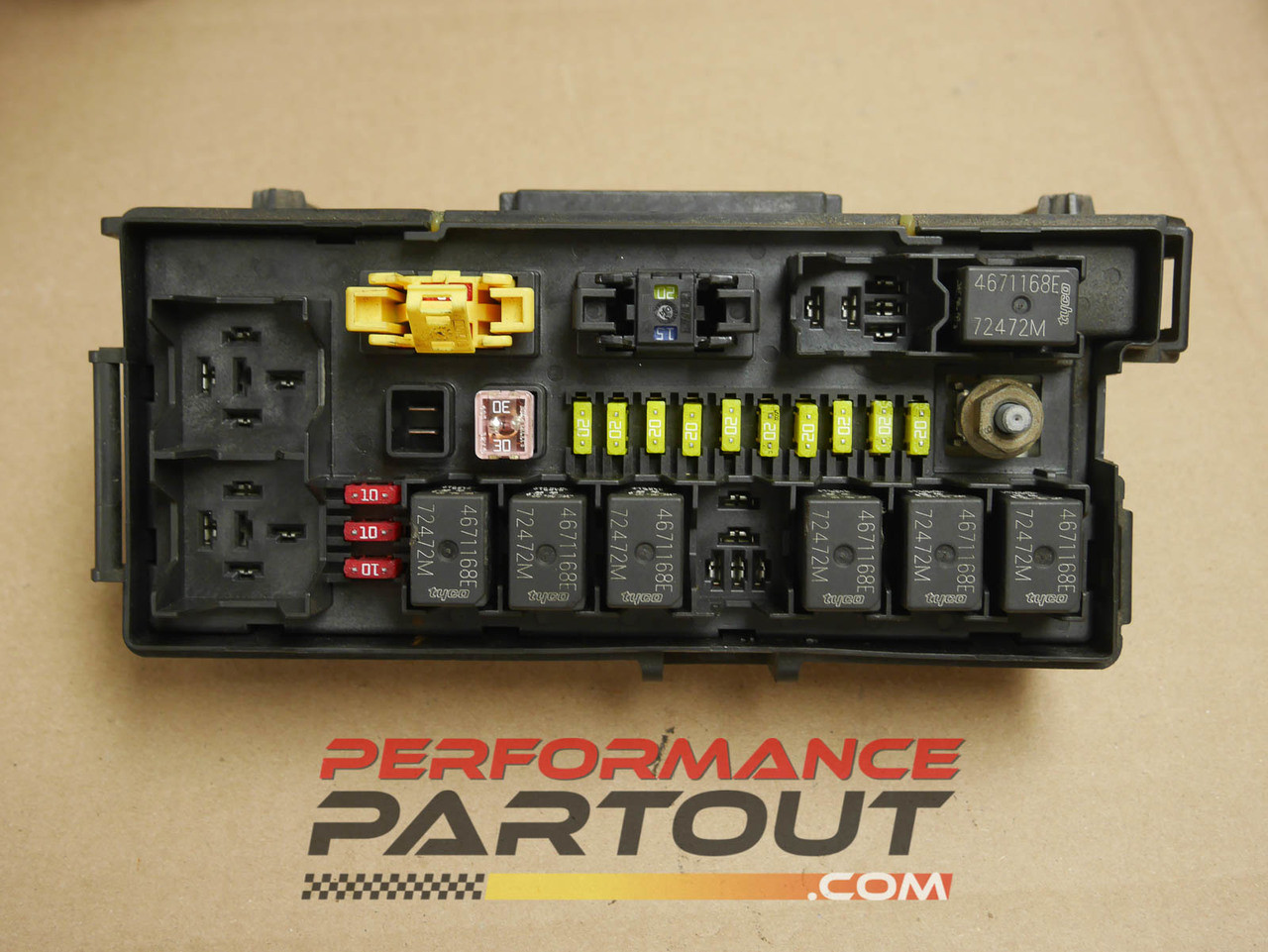 front end body fuse box junction jeep grand cherokee 2005 04692072aa -  performance partout