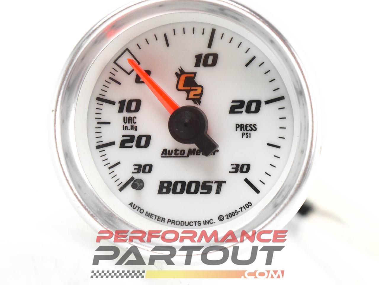 Autometer boost gauge C2 7103 Vac/30psi