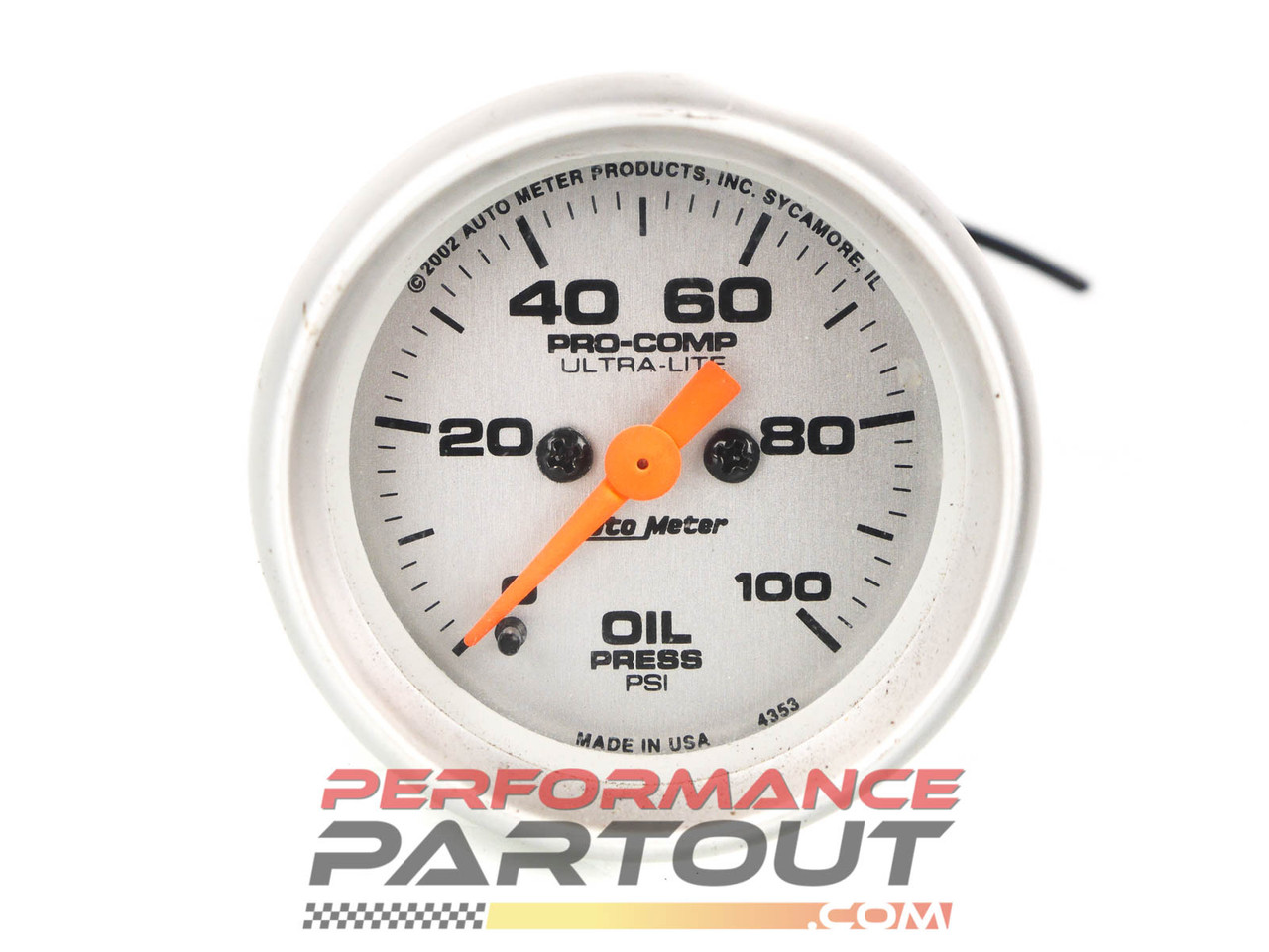 Autometer Pro-Comp Ultra-lite oil pressure gauge 4353