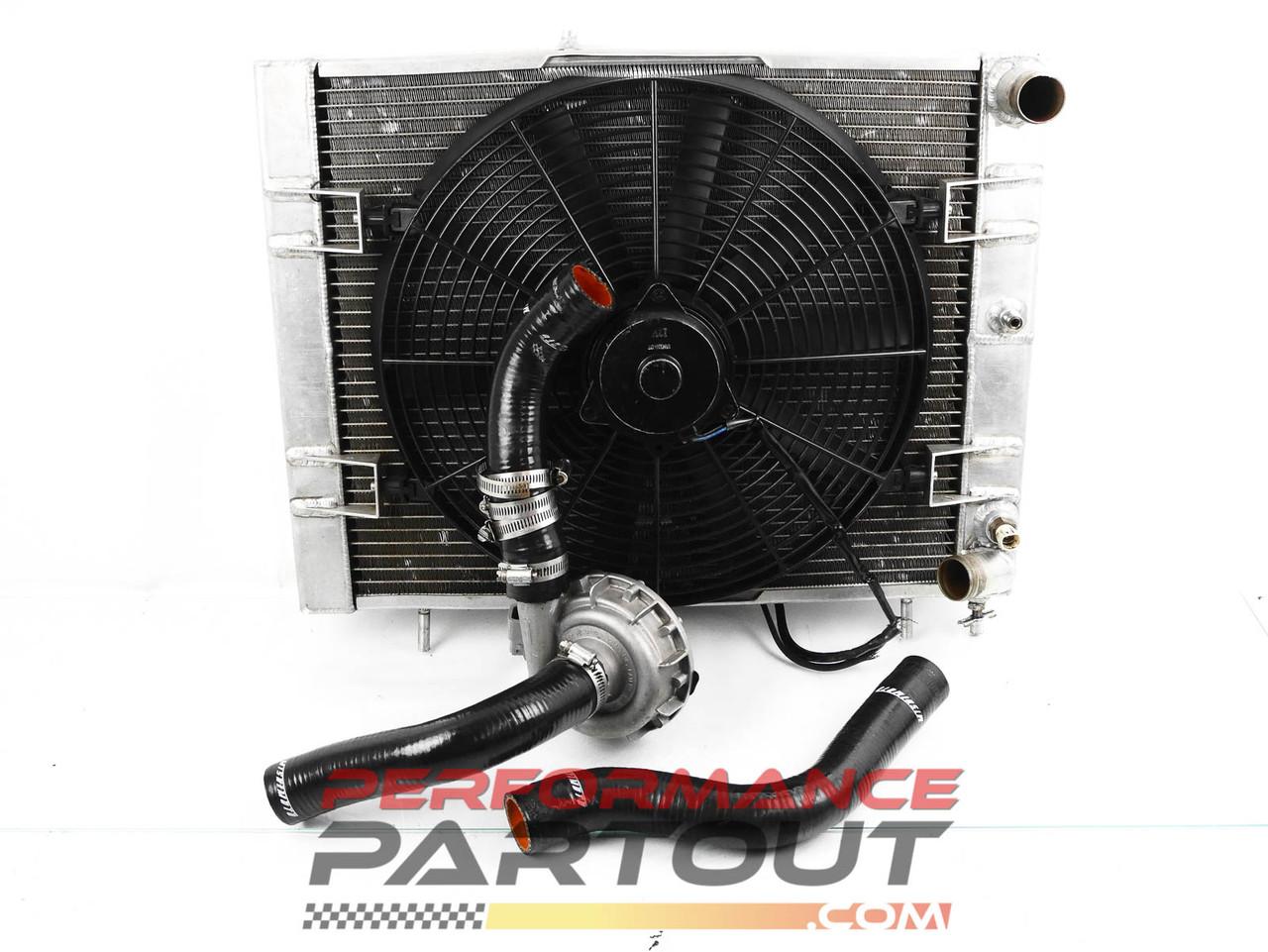 Aluminum Radiator w/ Electric water pump set PRTOUT