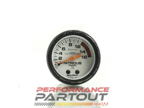 Autometer phantom nitrous pressure gauge