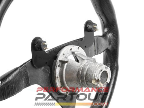 MOMO V-38 steering wheel with Mitsubishi hub adapter