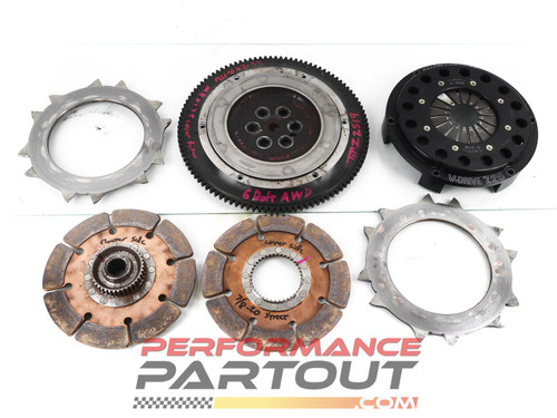 "Quartermaster 7.25"" 6 leg 6B AWD twin disk clutch"