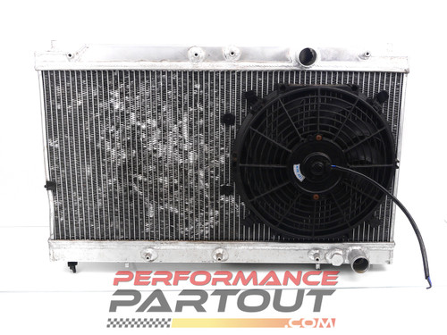 CX Racing aluminum radiator for 90-94 1g DSM