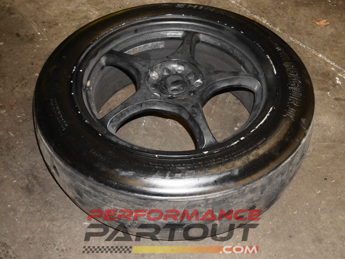 Shinko drag slicks w/ 17x7 wheels 26x7x17""