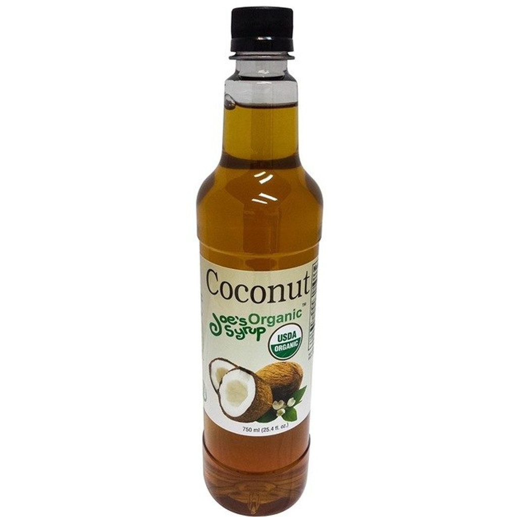 """Joe's Organic Coconut syrup is versatile. It's flavor pairs well with sweet, bitter and salty flavors. Many desserts, Cocktails and coffee drinks use this tropical delight. This flavor is key to making the """"Almond Joy"""" and """"Mounds"""" lattes. Joe's Organic Coconut Syrup gives you a fantastic coconut flavor to all your candy bar and tropical-inspired beverages. Made with all natural organic complaint flavors and pure organic cane sugar, Joe's Organic Coconut Flavored Syrup is a highly recommended for creating many specialty beverages."""