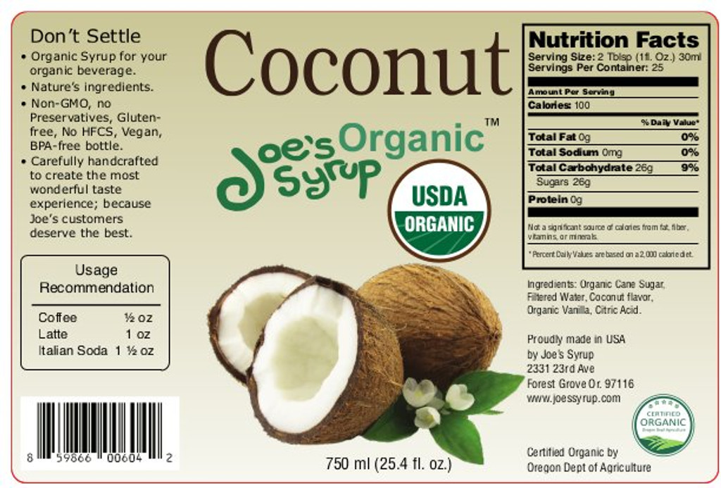 USDA Organic COCONUT