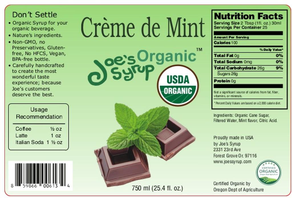 USDA Organic CREME DE MENTHE