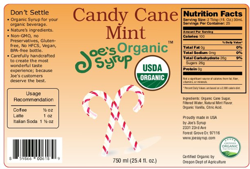 USDA Organic CANDYCANE MINT