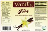 Natural VANILLA, Made With Organic Sugar