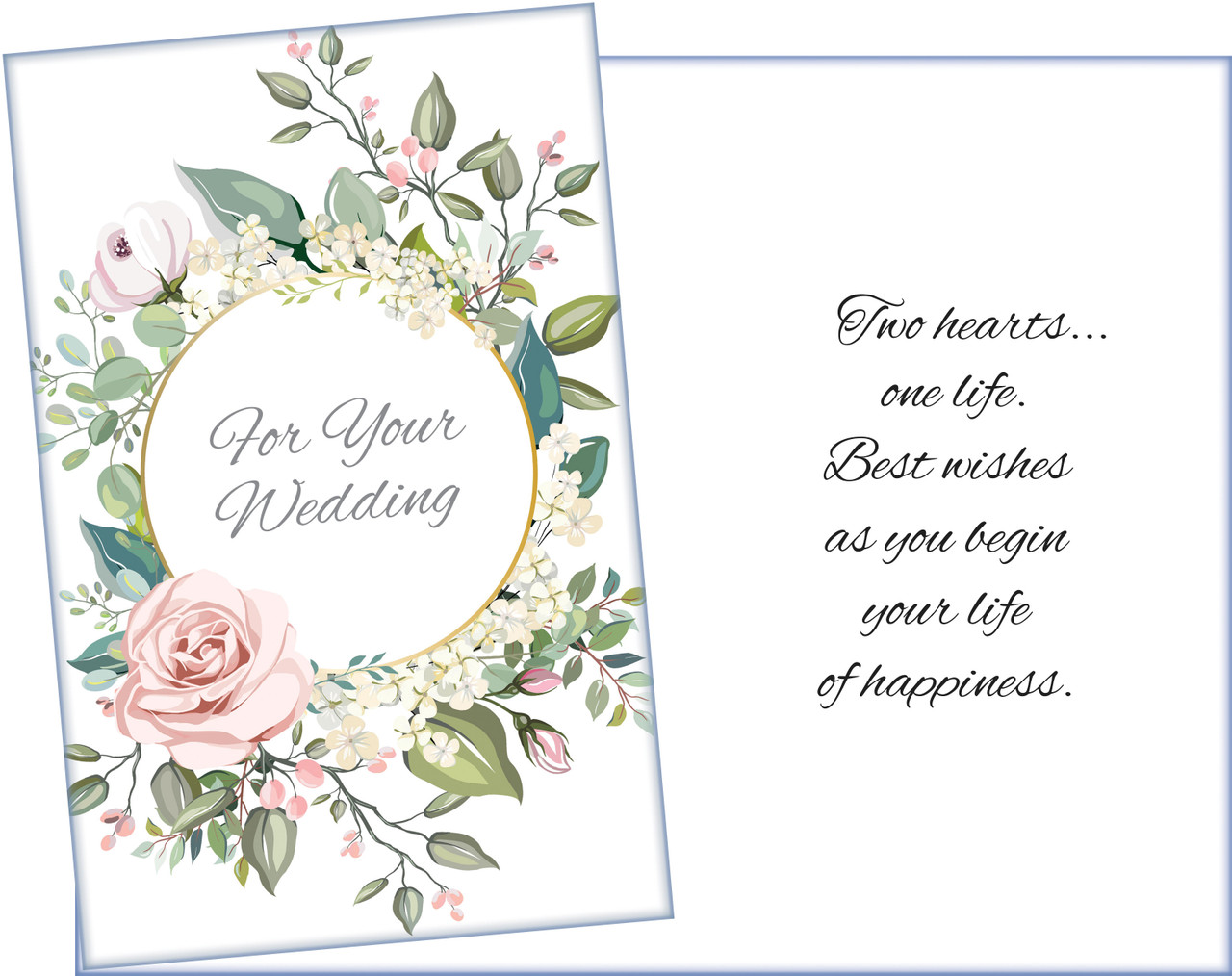 95920 Six Wedding Greeting Cards With Six Envelopes
