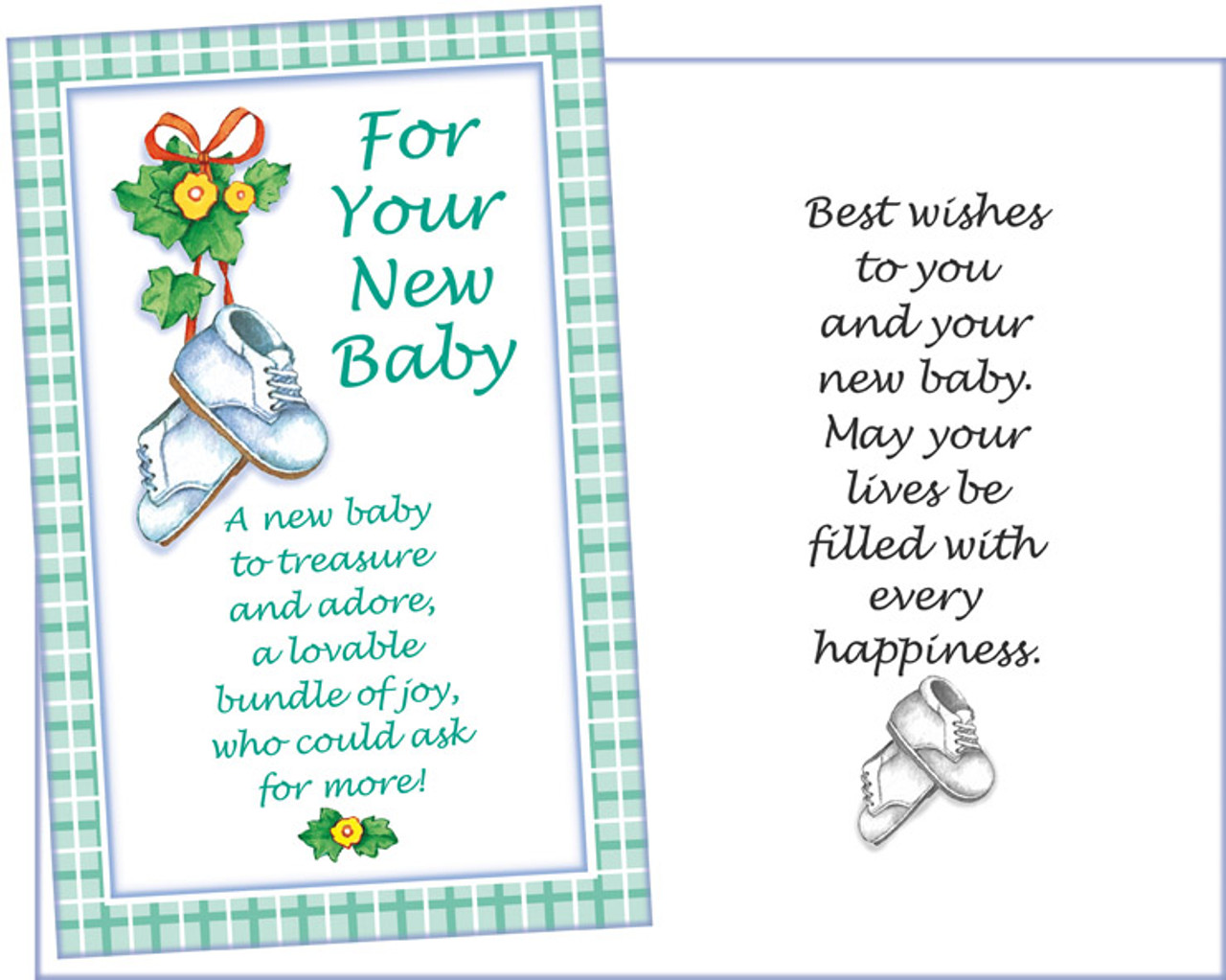 89511 Six New Baby Greeting Cards With Six Envelopes