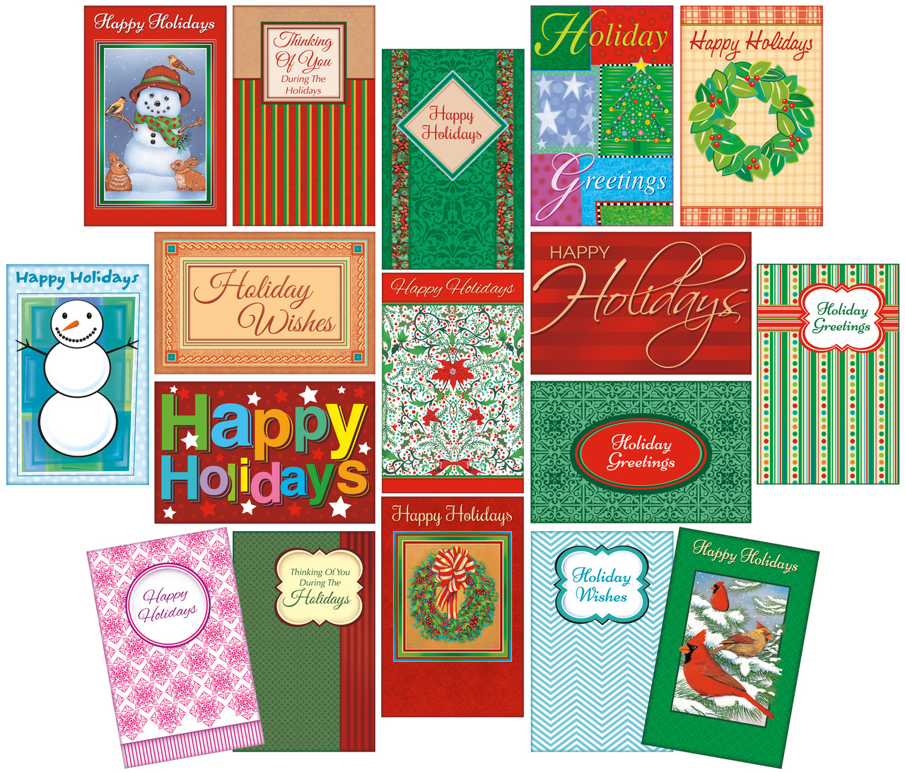 19¢ per card Happy Holiday DEAL (120 cards) - Stockwell Greetings