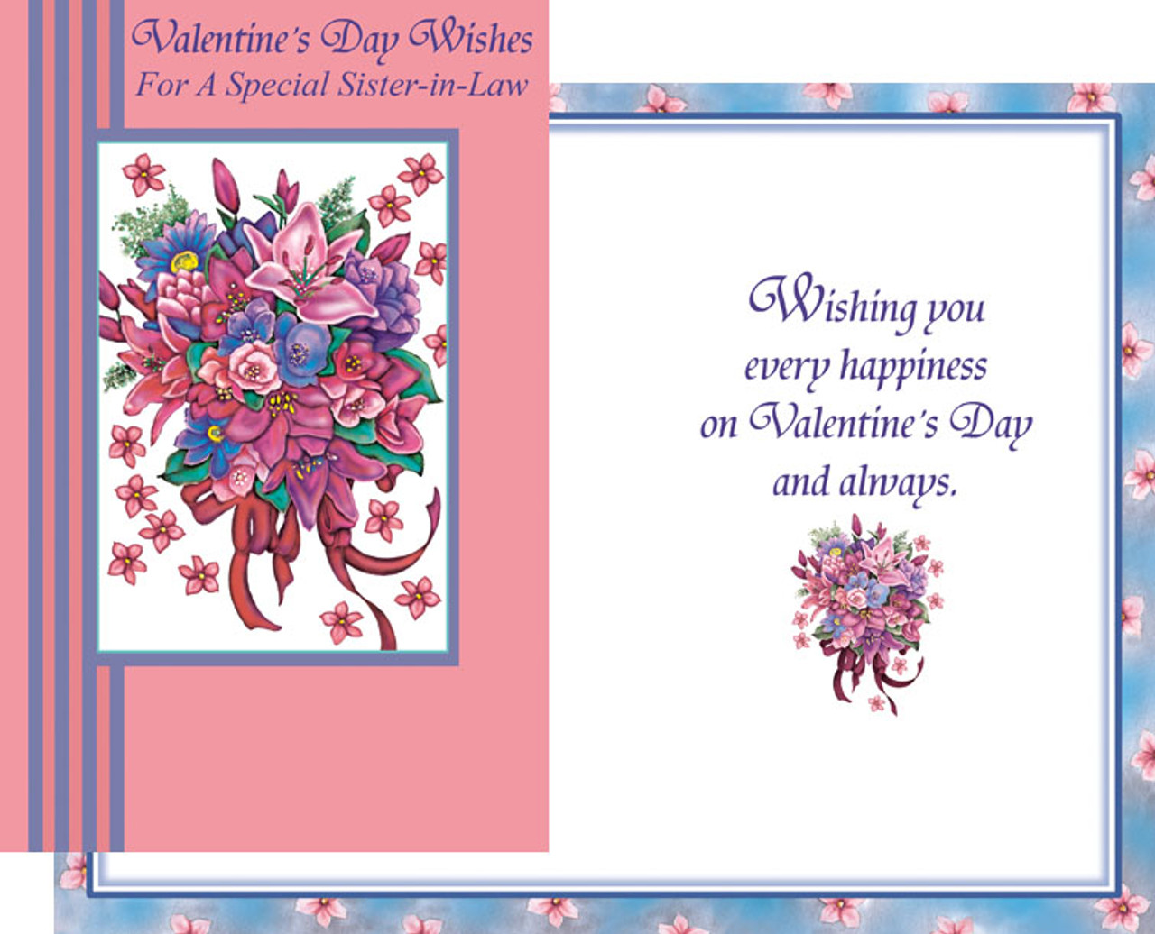 Valentines Day Wholesale Greeting Cards Sister In Law