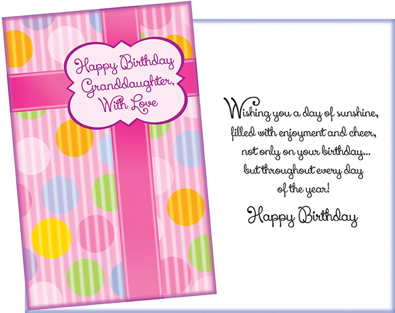 Wholesale Birthday Granddaughter Greeting Card