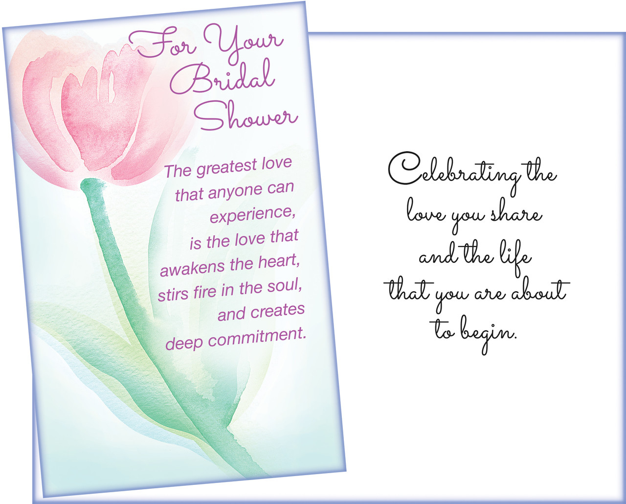 95890 six bridal shower greeting cards with six envelopes
