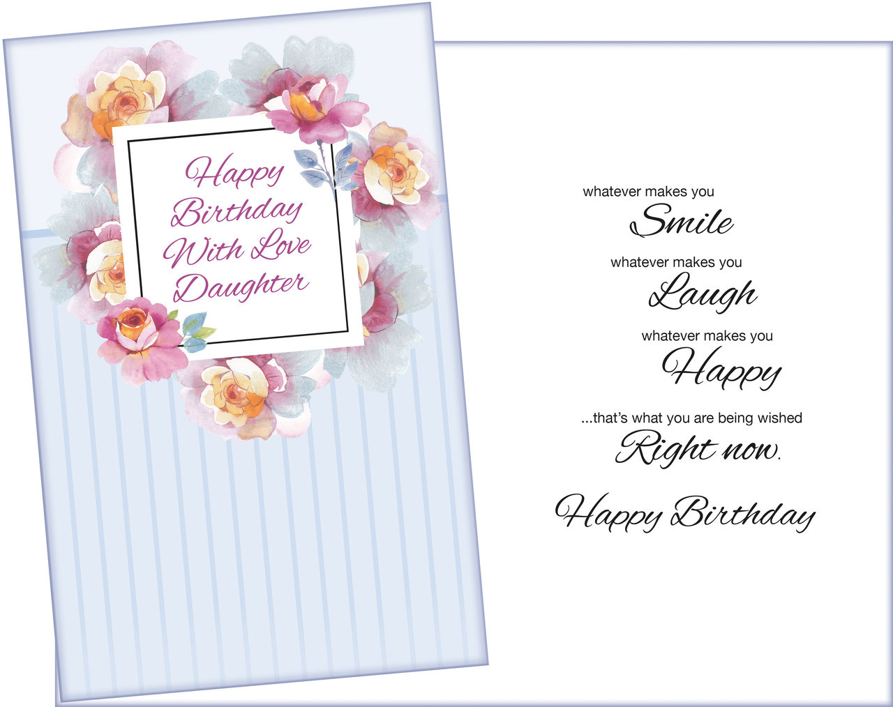 95205 Six Daughter Birthday Greeting Cards With Envelopes